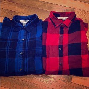 2 woman's flannels